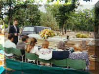 Funeral Service at Evergreen Cemetery